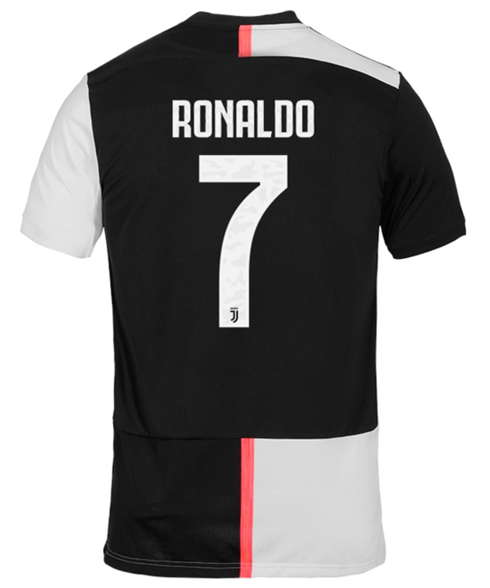Juventus first team shirt with number and name
