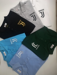 Juventus polo shirt Embroidery logo of Multiple colors